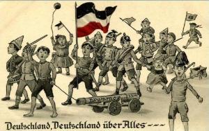 Postkarte Deutschland über alles