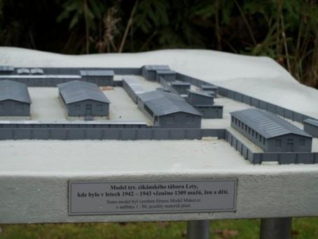cc Stiftung Zuhören / Modell des KZ Lety