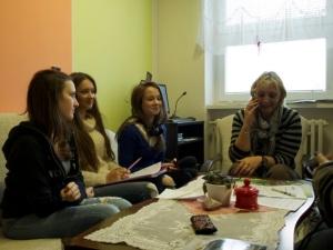 cc Stiftung Zuhören / Interviewteam bei der Ersten Bürgermeisterin Letys