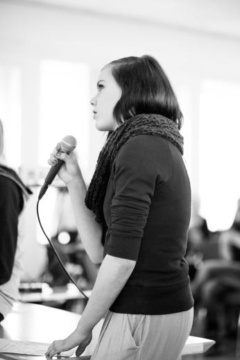 cc Stiftung Zuhören / Die ersten Storyteller wagen sich ans Mikrofon